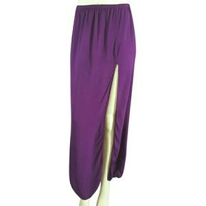 Omgirl Yoga Slit Front Maxi Skirt
